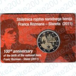 Slovenia - 2€ Comm. 2011 FDC Franc Rozman in Folder