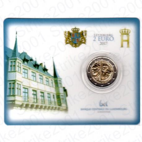 Lussemburgo - 2€ Comm. 2017 FDC Granduca Guglielmo III in Folder