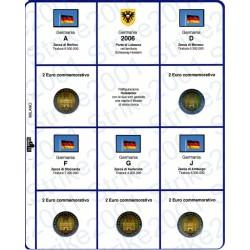 Kit Foglio 2€ Comm. 2006 Germania - 5 Zecche