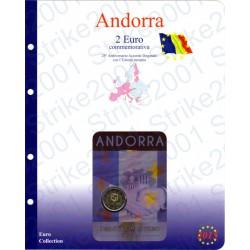Kit Foglio Andorra 2 Euro Comm. 2015 in folder Accordo Doganale