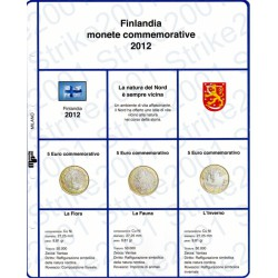 Kit Foglio 5 Euro Comm. Bimetallico Finlandia 2012