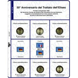 Kit Foglio 2€ Comm. 2013 Germania Trattato Eliseo - 5 Zecche