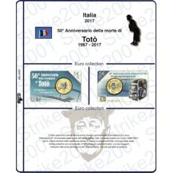 Kit Foglio 5 Euro Comm. Bimetallico Italia 2017 Totò