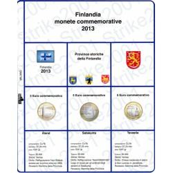 Kit Foglio 5 Euro Comm. Bimetallico Finlandia 2013