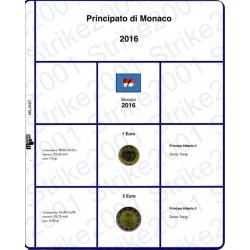 Kit Foglio 2 Euro e 1 Euro Monaco 2016