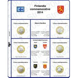 Kit Foglio 5 Euro Comm. Bimetallico Finlandia 2014