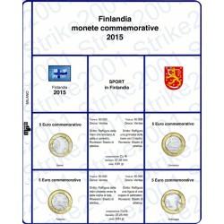 Kit Foglio 5 Euro Comm. Bimetallico Finlandia 2015