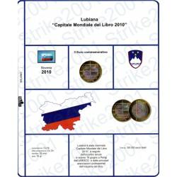 Kit Foglio 3 Euro Comm. Bimetallico Slovenia 2010