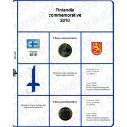 Kit Foglio 5 Euro Comm. Bimetallico Finlandia 2010