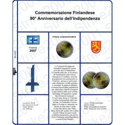 Kit Foglio 5 Euro Comm. Bimetallico Finlandia 2007