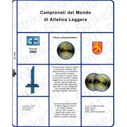 Kit Foglio 5 Euro Comm. Bimetallico Finlandia 2005