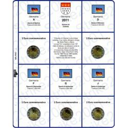Kit Foglio 2€ Comm. 2011 Germania - 5 Zecche