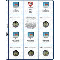 Kit Foglio 2€ Comm. 2012 Germania - 5 Zecche