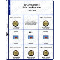 Kit Foglio 2 Euro Comm. 2015 Germania Riunificazione - 5 Zecche