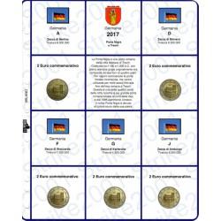 Kit Foglio 2 Euro Comm. 2017 Germania - 5 zecche