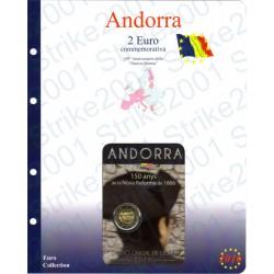 Kit Foglio Andorra 2 Euro Comm. 2016 in folder Nuova Riforma