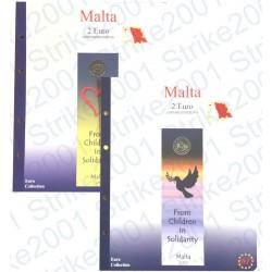 Kit Foglio Malta 2€ comm. 2016 in folder