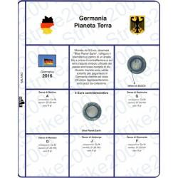 Kit Foglio 5 Euro Comm. Bimetallico Germania 2016