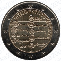 Austria - 2€ Comm. 2005 FDC 50° Ann. Austrian State Treaty