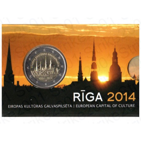 Lettonia - 2€ Comm. 2014 FOLDER FDC