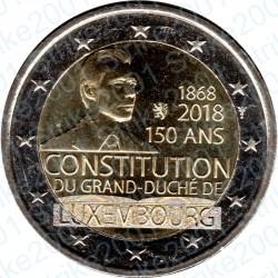 Lussemburgo - 2€ Comm. 2018 FDC Cost. Lussemburghese