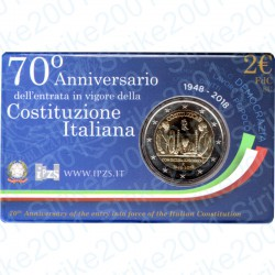 Italia - 2€ Comm. 2018 FDC Ann. Costituzione in Folder