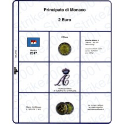 Kit Foglio 2 Euro Monaco 2017
