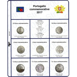 Kit Foglio 2,5 - 5 - 7,5 Euro Comm. Portogallo 2017