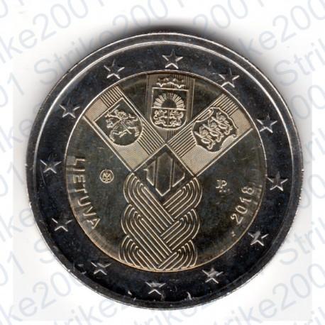 Lituania - 2€ Comm. 2018 FDC 100° Stati Baltici Indipendenti