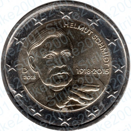 Germania - 2€ Comm. 2018 FDC Helmut Schmidt