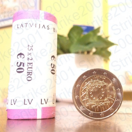 Lettonia - 2€ Comm. 2015 30° Bandiera Europea FDC
