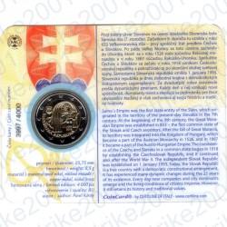Slovacchia - 2€ Comm. 2018 FDC 25° Repubblica in Folder