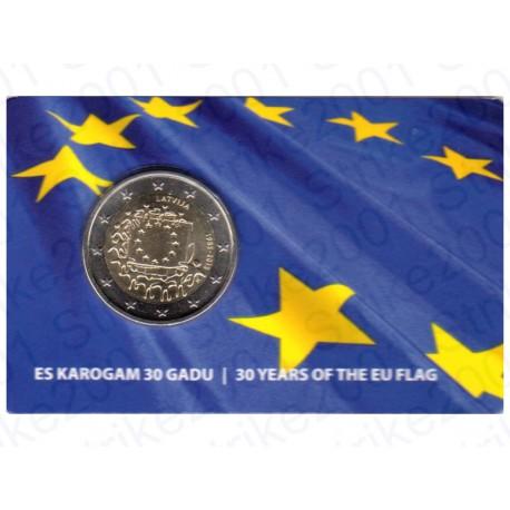 Lettonia - 2€ Comm. 2015 30° Bandiera Europea FOLDER FDC