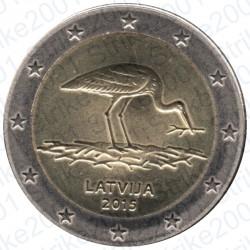 Lettonia - 2€ Comm. 2015 FDC Cicogna Nera