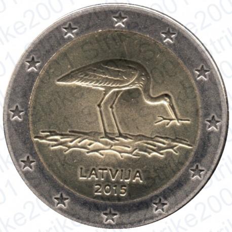 Lettonia - 2€ Comm. 2015 Cicogna Nera FDC