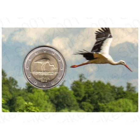 Lettonia - 2€ Comm. 2015 FOLDER Cicogna Nera