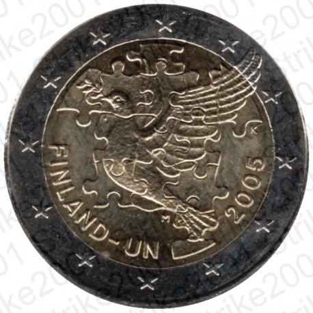 Finlandia - 2€ Comm. 2005 FDC 50° Ann. O.N.U.