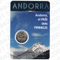 Andorra - 2€ Comm. 2017 FDC Il Paese dei Pirenei in Folder