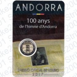 Andorra - 2€ Comm. 2017 FDC 100° Inno di Andorra in Folder