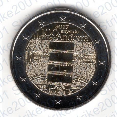 Andorra - 2€ Comm. 2017 FDC 100° Inno di Andorra