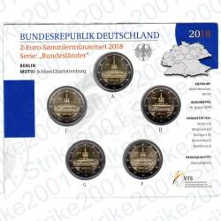 Germania - 2€ Comm. 5 Zecche 2018 FOLDER FDC Castello di Charlottenburg