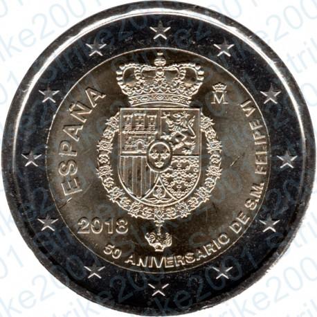 Spagna - 2€ Comm. 2018 FDC Compleanno Re Filippo VI
