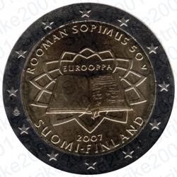 Finlandia - 2€ Comm. 2007 FDC Trattato Roma