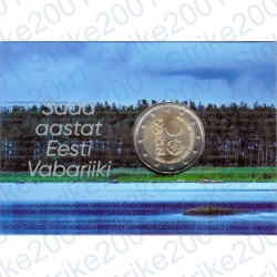 Estonia - 2€ Comm. 2018 FDC 100° Repubblica in Folder