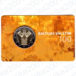 Lettonia - 2€ Comm. 2018 FDC Stati Baltici Indipendenti in Folder
