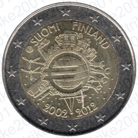 Finlandia - 2€ Comm. 2012 FDC 10° Anniversario euro