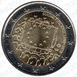 Finlandia - 2€ Comm. 2015 FDC 30° Ann. Bandiera Europea