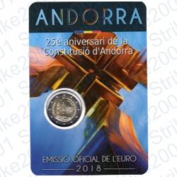 Andorra - 2€ Comm. 2018 FDC 25° Costituzione di Andorra