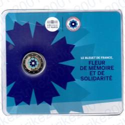 Francia - 2€ Comm. 2018 FDC Fiordaliso - Bleuet in Folder