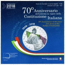 Italia - Divisionale Ufficiale 2018 FDC 10 Valori